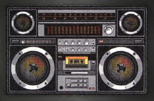 Deurmat Ghettoblaster retro muziek design mat gettoblaster Voetmat deurmat voetenveger vuilmat