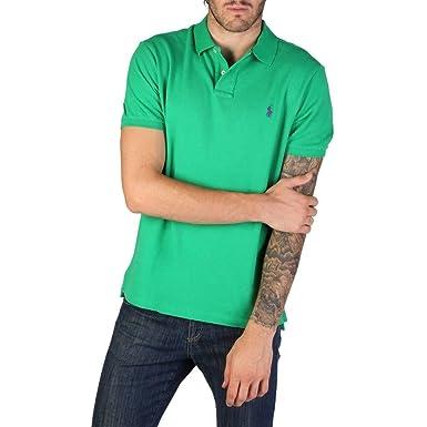 Polo Ralph Lauren 710680784041 in piquè Custom Slim fit 041 Verde ...