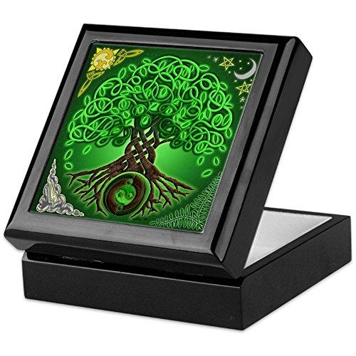 (CafePress - Circle Celtic Tree of Life - Keepsake Box, Finished Hardwood Jewelry Box, Velvet Lined Memento Box)
