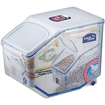 LOCK u0026 LOCK Bulk Storage Bins Food Storage Container with Wheels 405.77-oz / 50.72-cup  sc 1 st  Amazon.com & Amazon.com: Winco IB-21 Ingredient Bin 21-Gallon: Food Savers ...