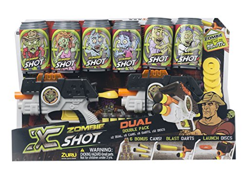 Zombie X Shot Dual Double Pack - Cans, Darts, and Discs