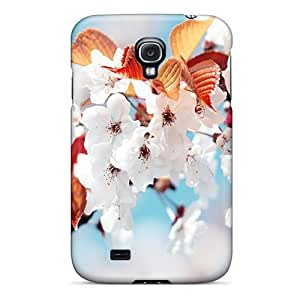 Tpu Case Cover Compatible For Galaxy S4/ Hot Case/ Cherry Blossom