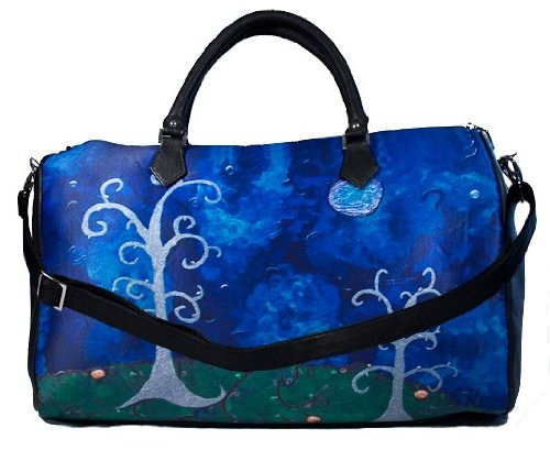 Vegan Leather Extra Large Handbag - Taken From My Original Oil Paintings (Trees - The Couple) by Salvador Kitti