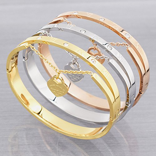 Love Bracelet Women Stainless Steel Roman Numerals Accessories Zircon Bangle & Bracelets For Women Jewelry - Charms Outlet Tiffany