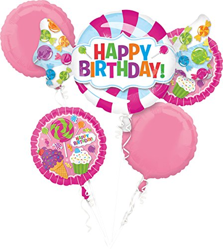 (Sweet Shop Happy Birthday Foil Balloon Bouquet,)