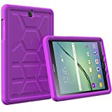 Poetic Cases TurtleSkin Heavy Duty Protection Silicone Case with Sound-Amplification Feature for Samsung Galaxy Tab S2 9.7 Purple