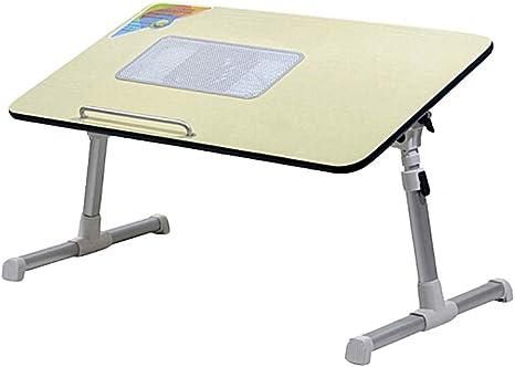 Mesa de ordenador portátil de refrigeración, altura ajustable ...