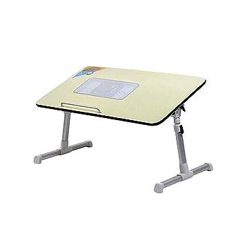 Mesa de ordenador portátil de refrigeración, altura ajustable, soporte portátil para portátil, escritorio, negro/gris, color gris: Amazon.es: Oficina y ...