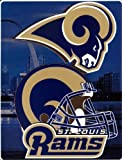 St Louis Rams NFL Aggression Raschel Plush 60x80 Twin Size Throw/Blanket