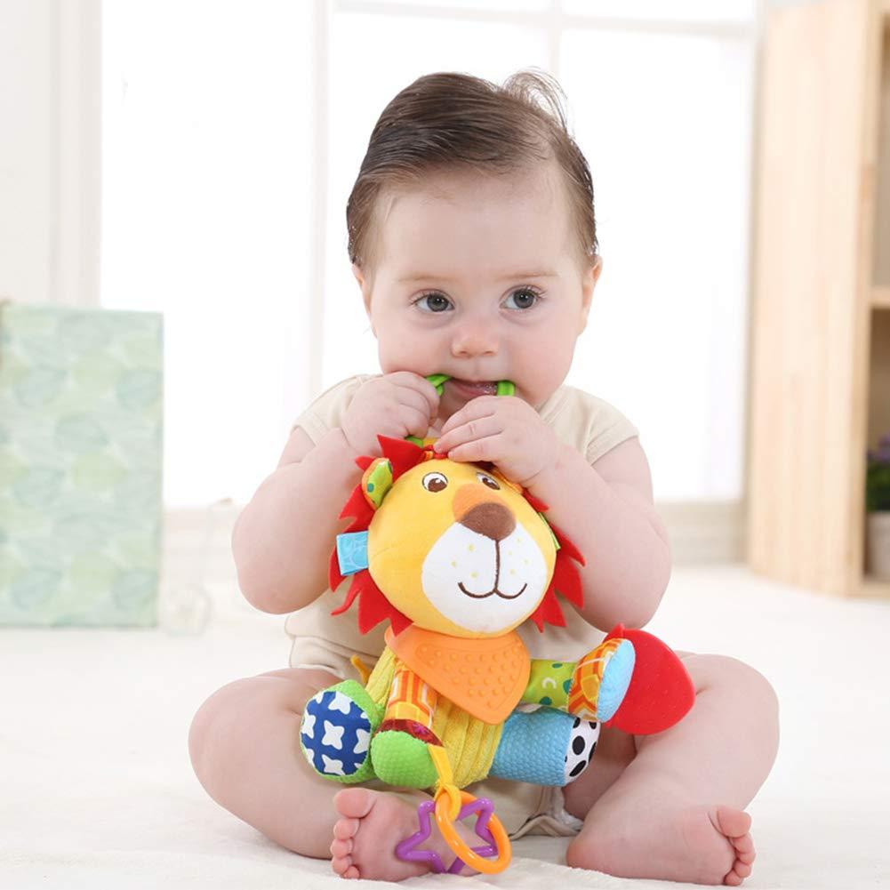 /él/éphant * YGQersh Dessin anim/é mignon animal lit de b/éb/é lit poussette pendaison anneau jouet jouet de dentition grin/çant