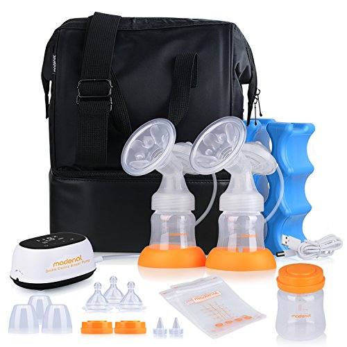 MADENAL Double / Single Electric Breast Pump Travel Set, Ice Pack, Breastmilk...