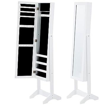 Spiegelschmuckschrank Spiegelschrank Standspiegel Ohrringe Kette Ringe Schmuck
