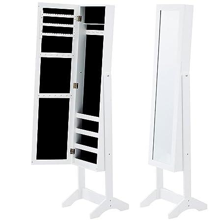 Ezigoo Armadio Portagioie LED Porta con Serratura Armadio Specchio Montaggio a Muro
