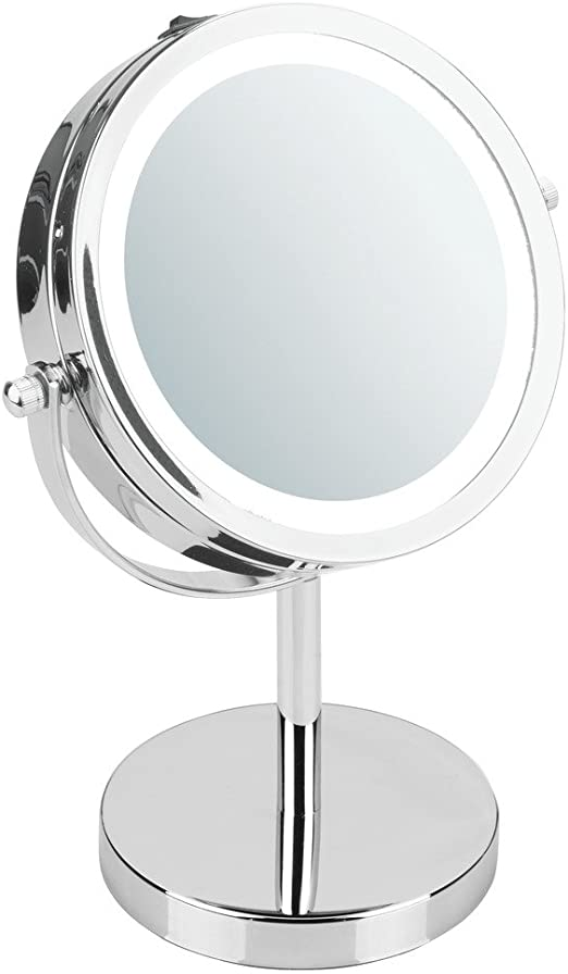 Amazon.com: iDesign Lighted Free Standing Vanity Makeup Mirror for
