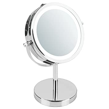 InterDesign Lighted Vanity Mirror For Bathroom