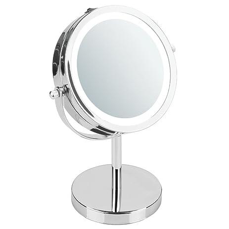 InterDesign Lighted Vanity Mirror for Bathroom, Vanity - Chrome