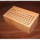 WellieSTR Wooden Stamp Stand Holder Wooden Holding Organiser Wood Tool Stand For Storing leathercraft Punches Tool total 76 Hole