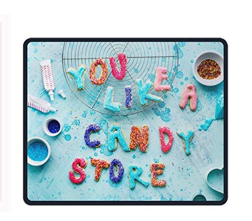 Love Candy Store Gaming Mousepad Non Slip Desk Rubber Custom Laptop Locked Mice Mat 11.8