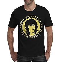 Keith Richards For President Mens T-Shirt Black / Large