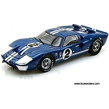 Sc401bu Shelby - Ford Gt-40 Mk Ii Hard Top #2 (1966, 1:18, Blue w/ White Stripes) Sc401 Diecast Car Model Auto Vehicle Automobile Metal Iron Toy