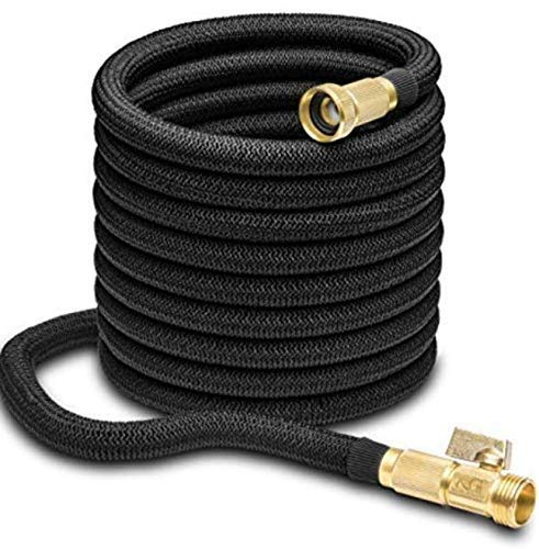 TaoTronics TT-MS004 50ft Expandable Garden Water Hose with Double Latex Core, 50′, Black