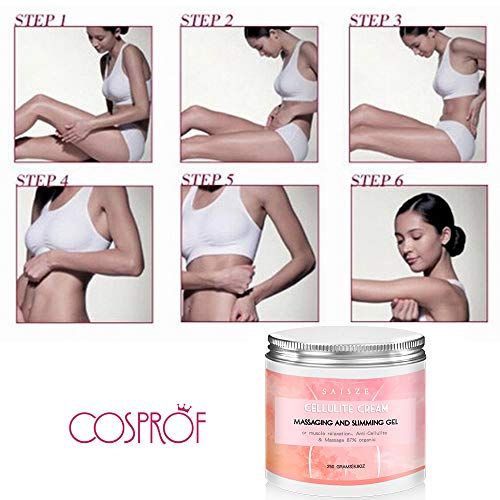 SAISZE Anti Cellulite Body Slimming Cream, Hot Cream Treatment & Weight Loss,Belly Fat Burner for Women and Men (Cellulite Cream + Massager) 4