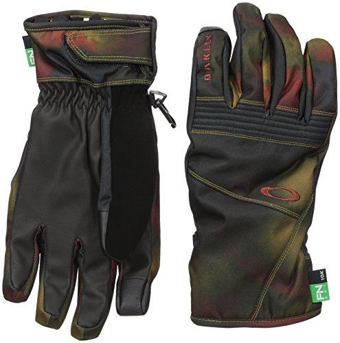 Oakley Roundhouse Short Mens Snow Snowmobile Gloves - Burnished Haze / X-Large
