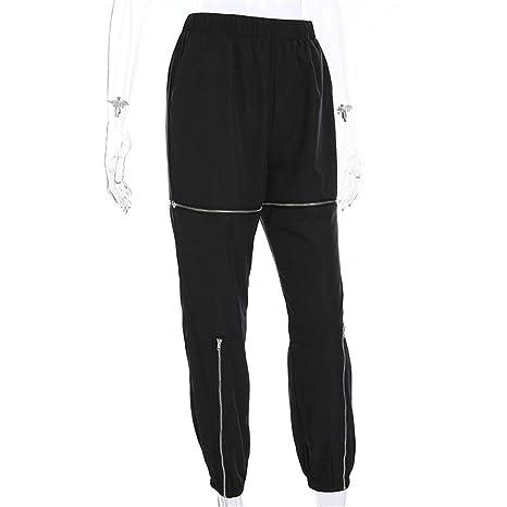 Pantalones casuales de las mujeres Pantalones de mujer elásticos ...