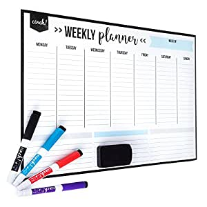 Amazon.com : Magnetic Dry Erase Weekly Calendar for Fridge