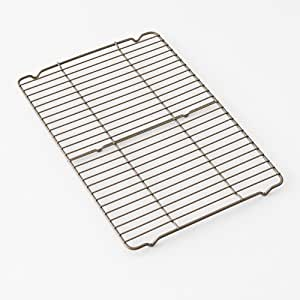 """Calphalon Nonstick Bakeware Cooling Rack, 11"""" by 16"""", Toffee"""