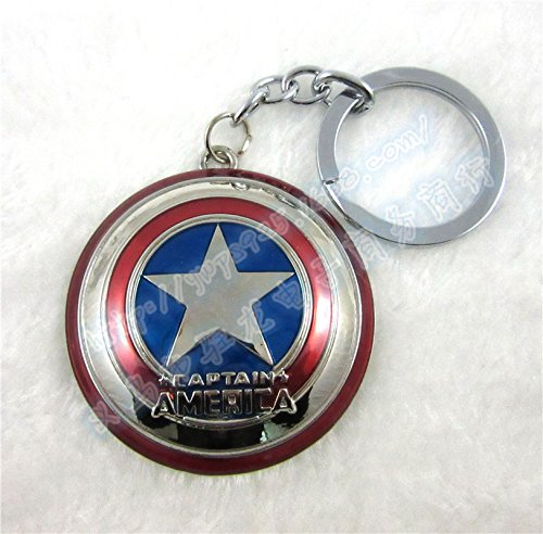 Angelia 100% nuevo héroe de Marvel los vengadores martillo de Thor Bronce Metal Llavero Cadena, Captain
