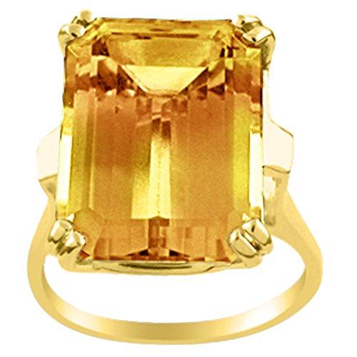 Citrine Ring 14K Yellow Gold or 14K White Gold