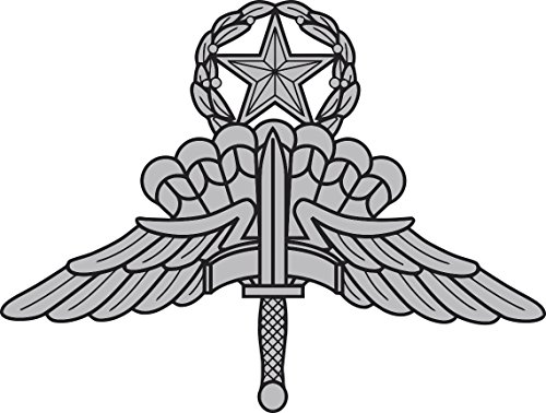 Military Vet Shop US Army Halo Master Parachutist Jump Wings Window Bumper Sticker Decal 3.8