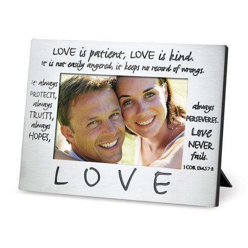 Lighthouse Christian Products Classic Metal Love Frame, 4 x 6''