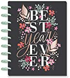 Create 365 ; The Classic Happy Planner ; Garden Blooms ;' Best Year Ever' ; 18 Months Dated (July 2019-December 2020) ; Vertical Hourly Layout ; Size: 9.75' x 8.5'