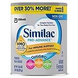 Similac pro-advance infant formula 2-FL HMO for immune support, 30.8 Ounce / 1.93 LB