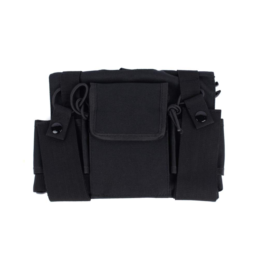 47d543299 Amazon.com  Saigain Universal Hands Free Radio Vest Chest Rig Harness Bag  Holster for Two Way Radio (Rescue Essentials)  Cell Phones   Accessories