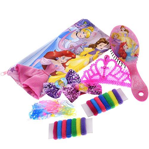 510USni34oL - TownleyGirl Disney Princess Cosmetic Set with Nail Polish, Lip Gloss, Press-On Nails, Sandals, Toe Separators, and More