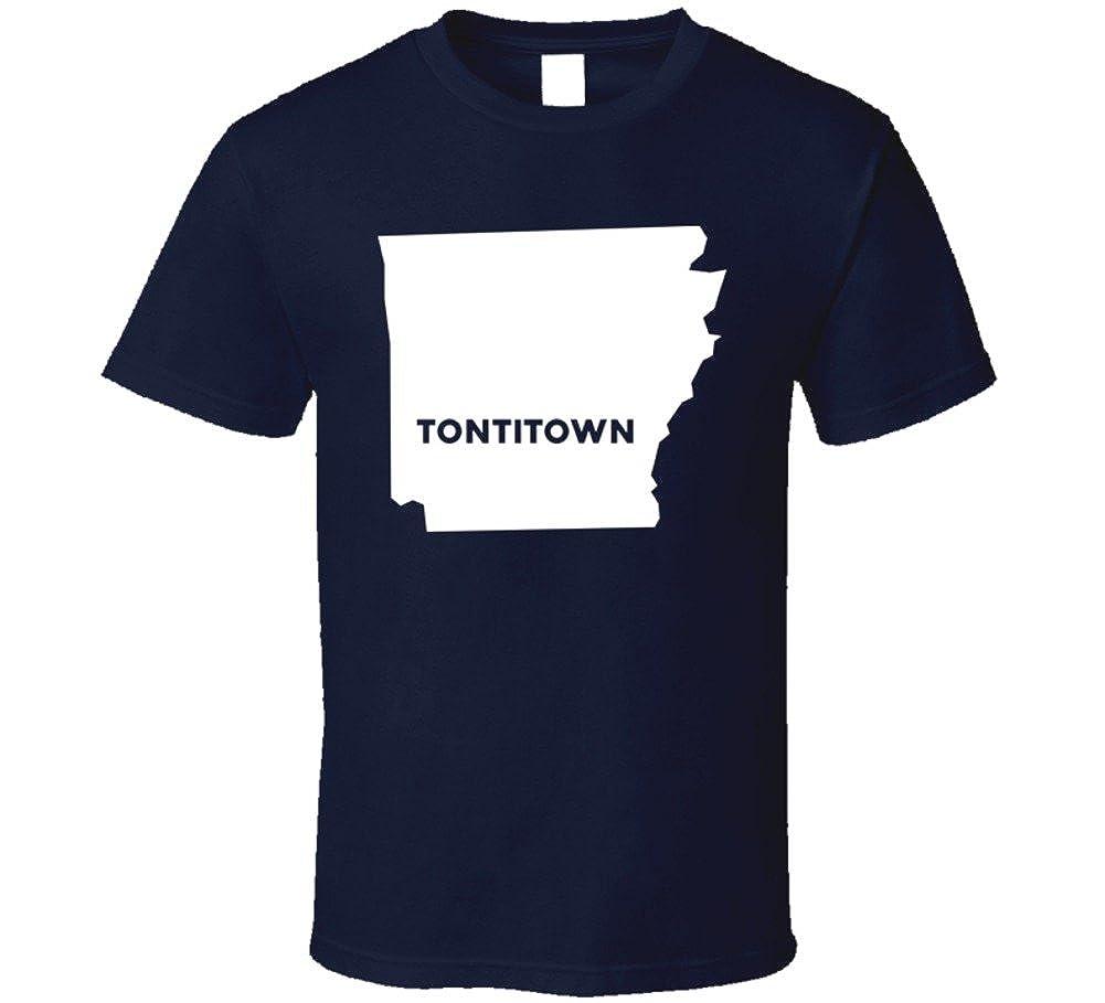 Tontitown Arkansas Map.Amazon Com Tontitown Arkansas City Map Usa Pride T Shirt Clothing