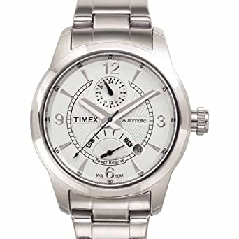 Timex Mens T2C261 Silver-Tone Automatic Stainless Steel Bracelet Watch