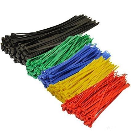 Amazon.com: TopzoneAssorted Color Nylon Cable Zip Ties Self ...
