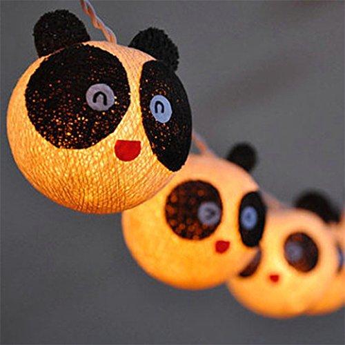 Warm White, 0-5W : 3M Cotton String Light 20pcs Ball Panda P
