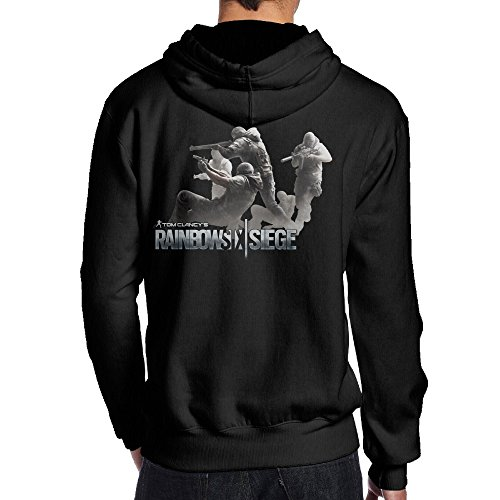 SAMMOI Tom Clancy's Rainbow Six Siege 7 Men's Hooded Sweatshirt M Black