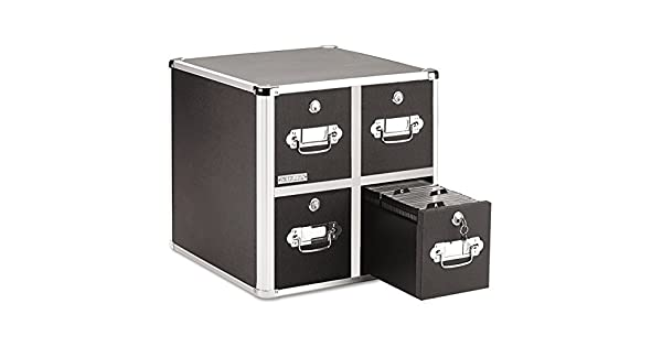 Amazon.com: Vaultz - Archivador de CD, color negro: Office ...