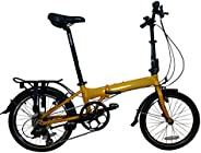 "Hunter-8-SP - SOLOROCK 20"" 8 Speed Aluminum Folding Bike - V-B"