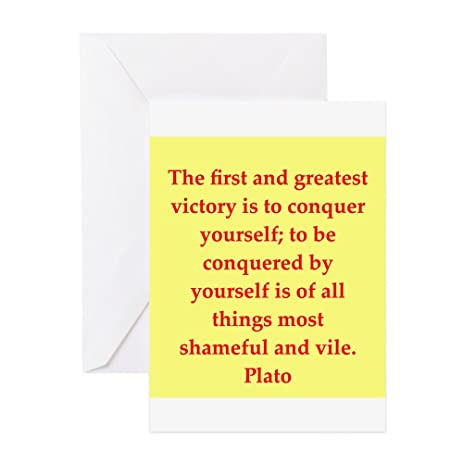 Amazon cafepress wisdom of plato greeting card note card cafepress wisdom of plato greeting card note card birthday card blank m4hsunfo