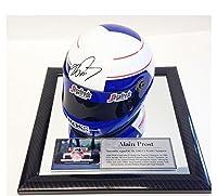 Signed Alain Prost 1/2 Scale F1 Helmet - Formula 1 Champion - McLaren 1997 - Autographed NASCAR Helmets from Sports Memorabilia