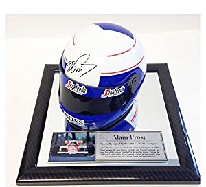 Signed Alain Prost 1/2 Scale F1 Helmet - Formula 1 Champion - McLaren 1997 - Autographed NASCAR Helmets by Sports Memorabilia