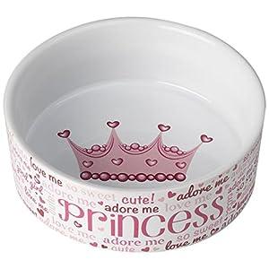 Pet Rageous 14044 Lila's Princess Pink/White 2 cups Bowl