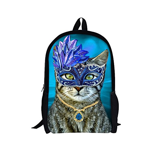TOREEP Fashion Animal Cat Print Canvas Backpack Teens School Book - Me Near Glasses Store Optical